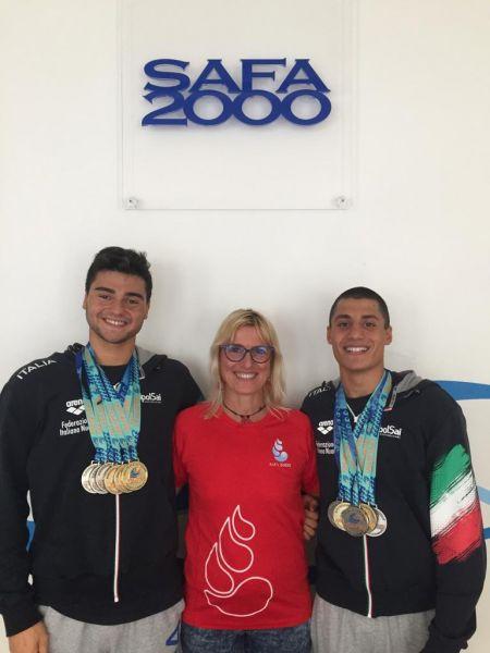 Andrea Vivalda Mattia Faccinti e Coach Laura Dondi